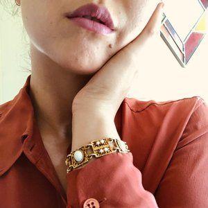 VINTAGE - White Enamel Bracelet